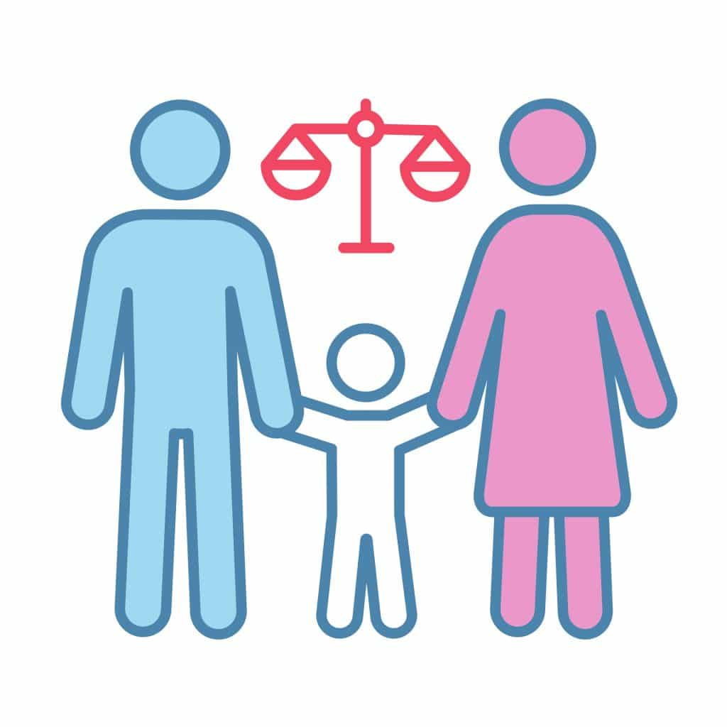 icon of family with balance